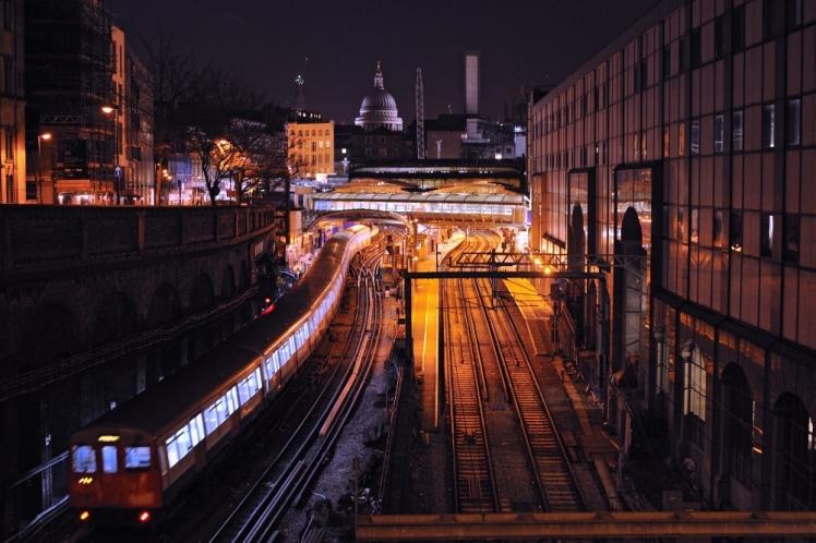 Last Train Farringdon Tube Station