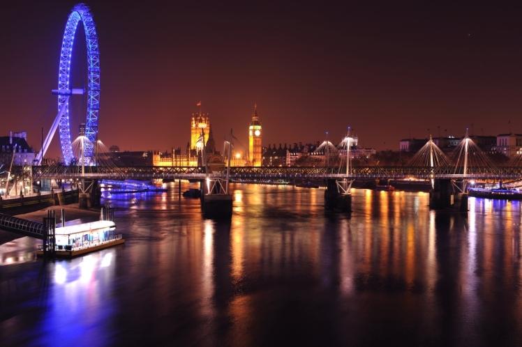 River of Glass Waterloo Bridge March 2011