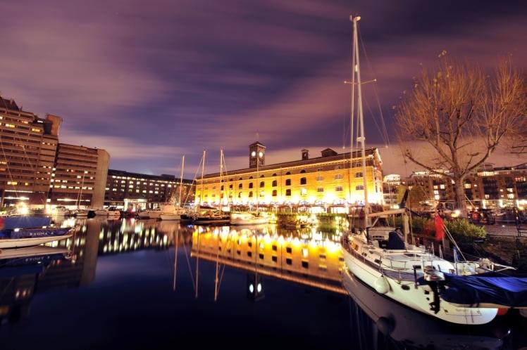 Vibrant Marina St Katharines Dock November 2009